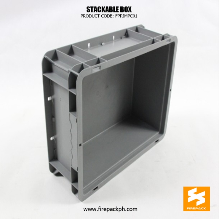 grey stackable box supplier