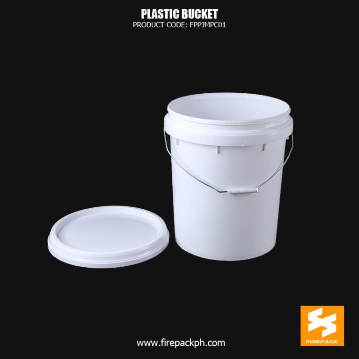 plastic bucket white supplier