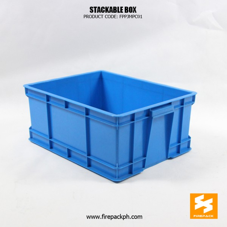 stackable box supplier maker blue color stackable box delivery box