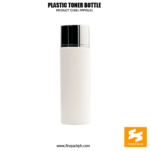 180ml HDPE plastic skin toner bottle with silver plating cap, bottle color and logo can be customized.