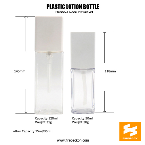 250ml Cosmetic Packaging PET Plastic 1Bottles For Lotion sizes