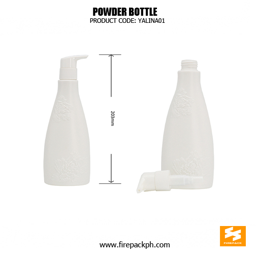 300ml HDPE Pretty Shampoo Bottles With Embossment 2
