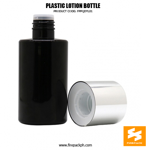Black PET bottle with silver plating cap for skincare toner bottle 2