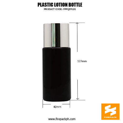 Black PET bottle with silver plating cap for skincare toner bottle sizes