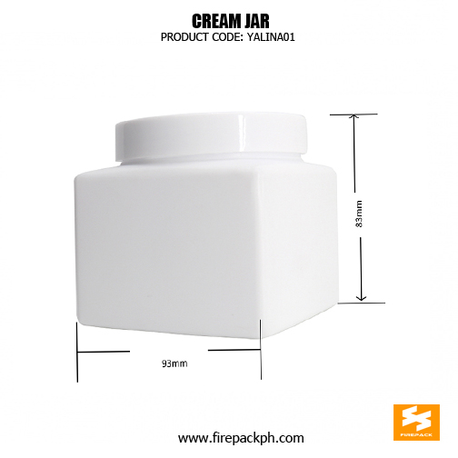 Cosmetic Packaging 500ml Square Empty Plastic Jars for sale