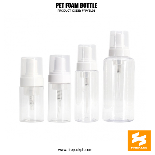Cosmetic Packaging Empty PET Soap Dispenser Foam Bottle
