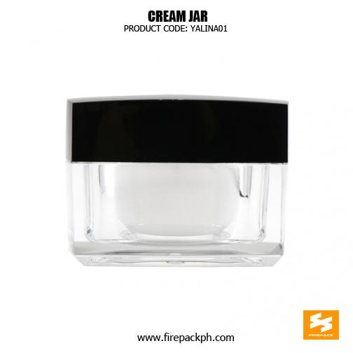 Cosmetic Packaging Plastic Square Empty Cream Jars 1