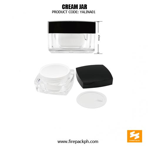 Cosmetic Packaging Plastic Square Empty Cream Jars 4