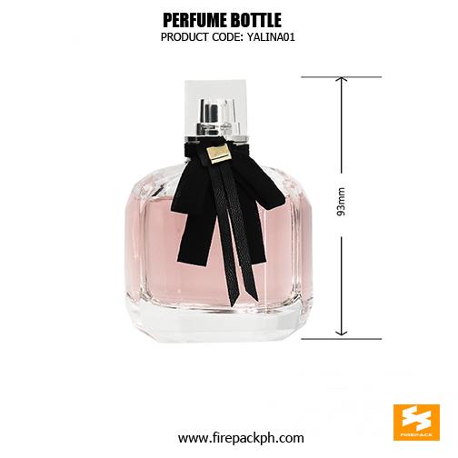Custom 80ml Empty Beautiful Glass Perfume Spray Bottle size