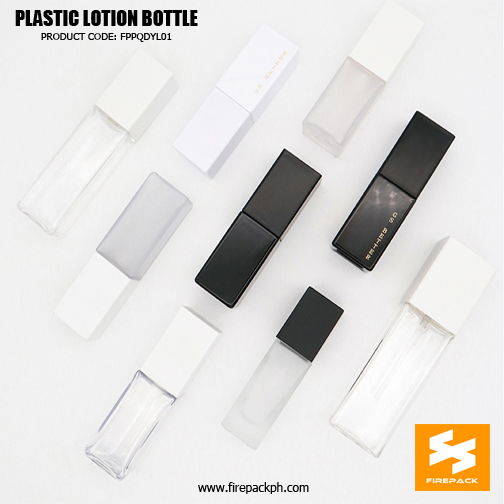 Custom Empty Cosmetic Packagi2ng Square PET Bottle