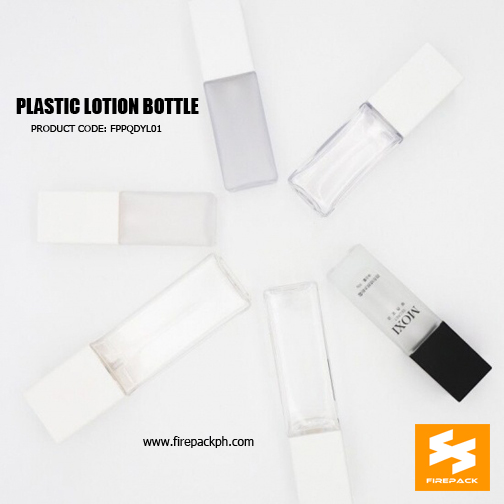Custom Empty Cosmetic Packaging Square PET Bottle 2