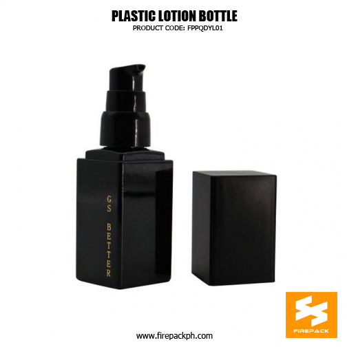 Custom Empty Cosmetic Packaging Square PET Bottle 5