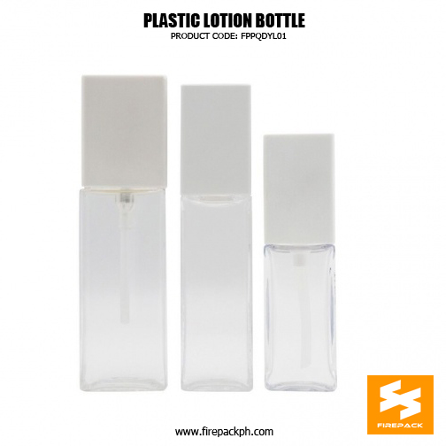Custom Empty Cosmetic Packaging Square1 PET Bottle 4