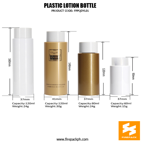 Cylinder PET bottle with different capacities 120ml, 80ml, 60ml. details 5