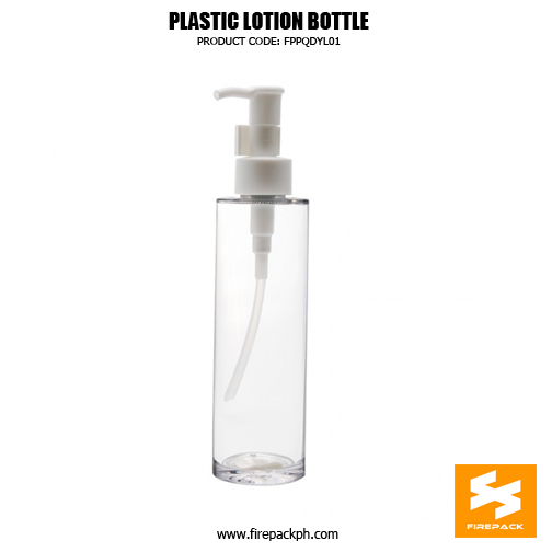 Factory Supply PET Plastic Lotion Bottle Custom Cosmetic Packaging