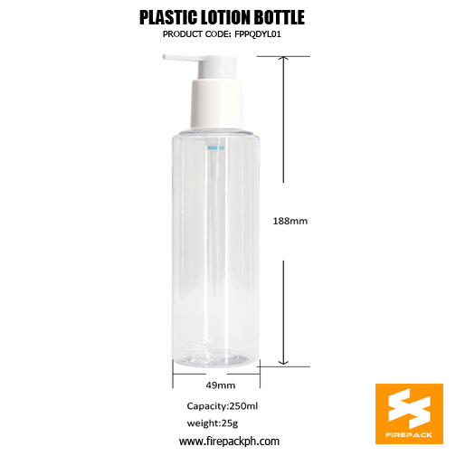 Factory Wholesale Clear 250ml Plastic Cosmetic Pacakging PET Bottle details