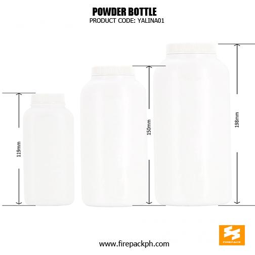 HDPE baby powder bottle SIZES