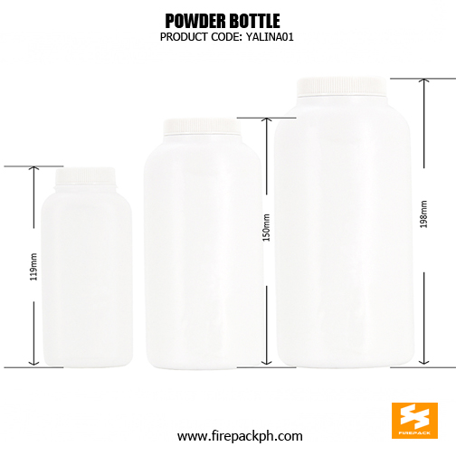 HDPE baby powder bottle SIZES