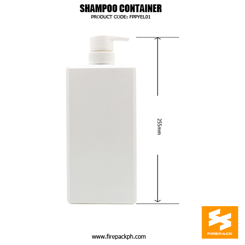 HDPE Empty Cosmetic Square Shampoo Bottle With Pump 2