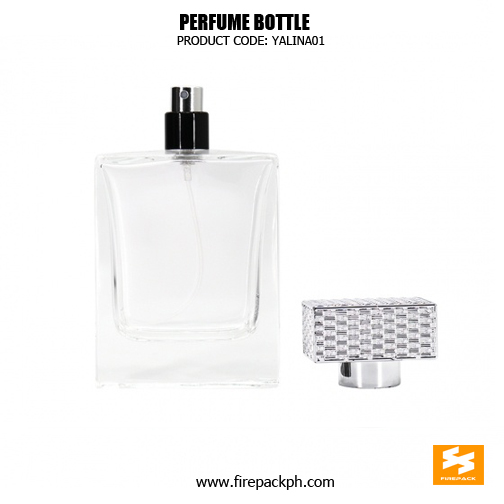 Luxury Cosmetic Packaging Custom Square Glass Perfume Bottle 5