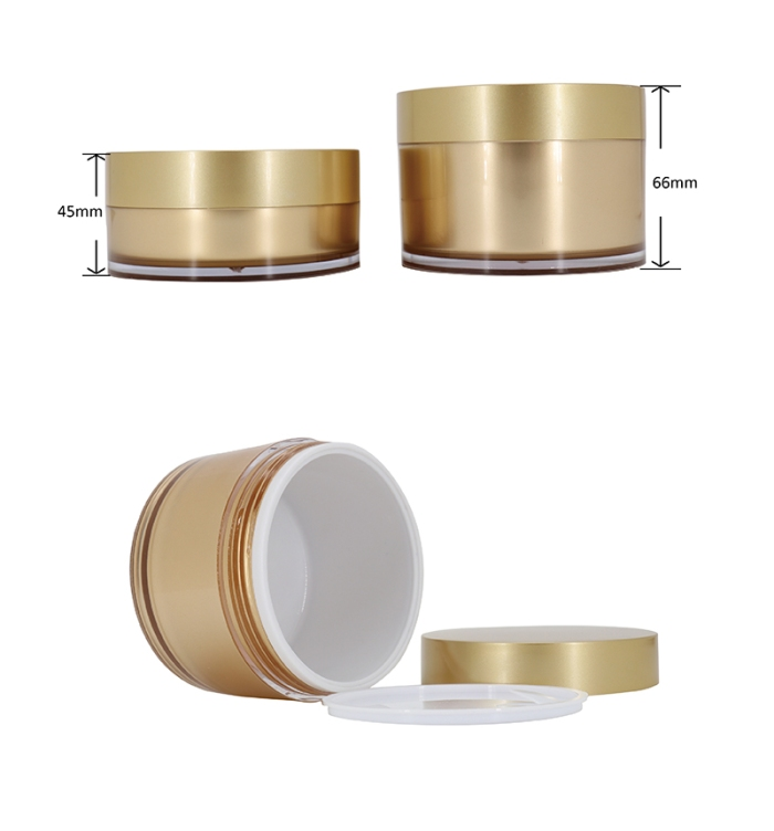 Luxury Double Wall Cosmetic Container Skin Care Jars sizes