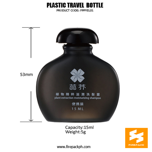 Premium 15ml Plastic PE Cosmetic Empty Travel Shampoo Bottles details