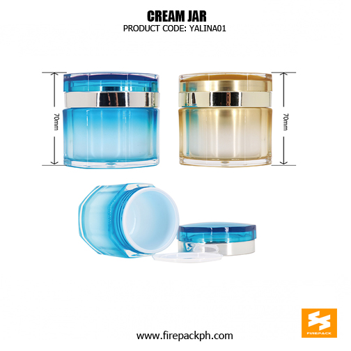 PS material for cosmetic pacakging jars 30g and 50g, double wall cream jar 2