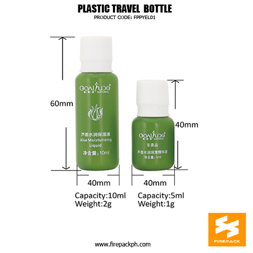 Skincare Travel Bottle 10ml Small Plastic 1Cosmetic Containers details