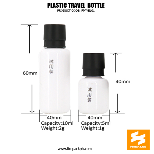 Skincare Travel Bottle 10ml Small Plastic Cosmetic Contain2rs details