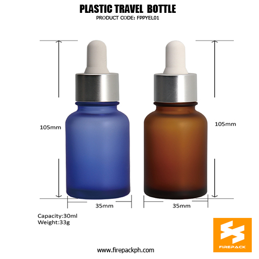 Thick PET dropper bottle with dropper 30ml with different colors, used for essential oil bottle, ser1um bottle sizes