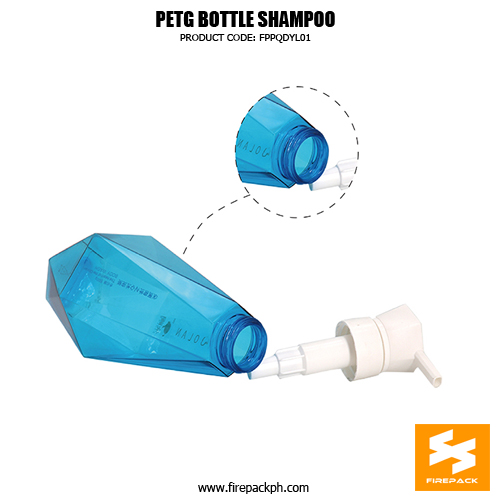 Wholesale 500ml PETG Plastic Clear Empty Shampoo Bottles size