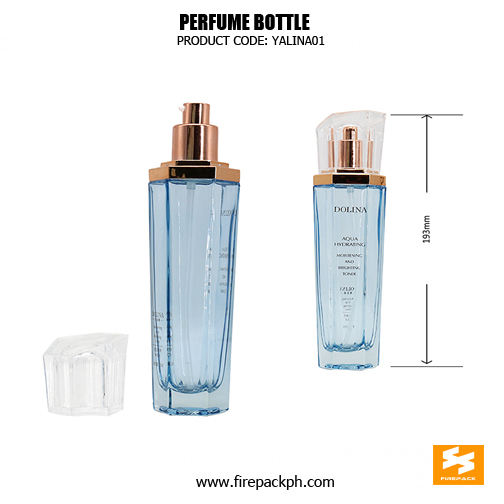 Wholesale glass bottle is 110ml, with acrylic cap and golden electric plating effect on pump. sizes